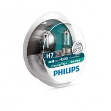Комплект 2 крушки за предни фарове на кола Philips H7 X-treme Vision, +130%, 12V, 55W